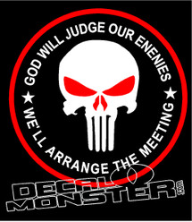 Punisher Skull God will Judge our Enemies We'll Arrange The Meeting
