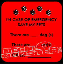 In Case of Emergency Save My Pets