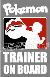 Pokemon Go Trainer On Board Decal Sticker