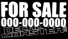 For Sale Decal Sticker DM