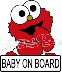 Baby Elmo on Board Decal Sticker