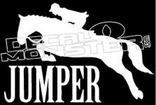 Equestrian Horse Jumper Silhouette Decal Sticker