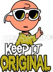 Keep it Original Charlie Brown Decal Sticker