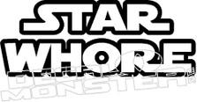 Star Whore Star Wars Decal Sticker
