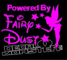 Powered by Fairy Dust Decal Sticker