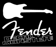 Fender guitar Decal Sticker