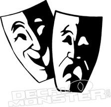 Theatre Masks Decal Sticker