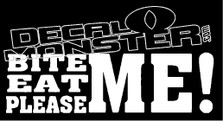 Bite me Eat me Please me Decal Sticker