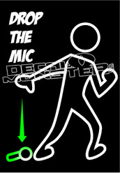 Drop the Mic Decal Sticker