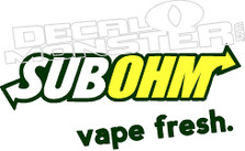 SUBOHM Vape Fresh Decal Sticker