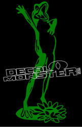 Singing Dancing Frog 1 Decal Sticker