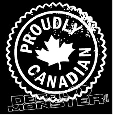 Proudly Canadian Decal Sticker