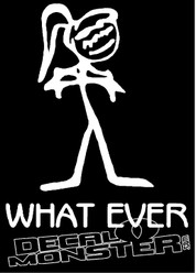 What Ever Girl Decal Sticker