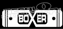 Boxer Life Decal Sticker