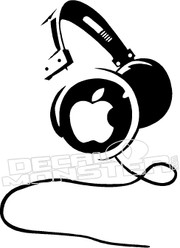 Apple Headphones Macbook 1 Decal Sticker