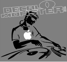 Apple Macbook 5 DJ Decal Sticker