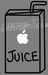 Apple Macbook 8 Apple Juice Box Decal Sticker