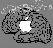 Apple Macbook 9 Brain Decal Sticker
