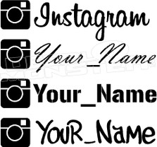 Instagram Your Name Decal Sticker