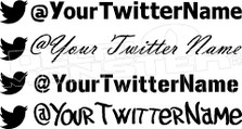 Twitter Your Name Decal Sticker
