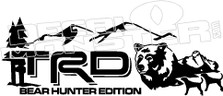 TRD Bear Hunter Edition Decal Sticker