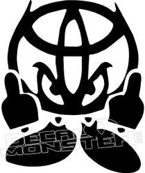 Toyota Devil Horns 3 Decal Sticker