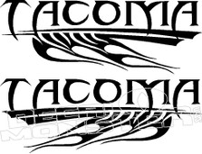 Tacoma Flames Decal Sticker