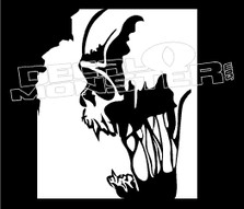 Screaming Skull Truck Decal Sticker