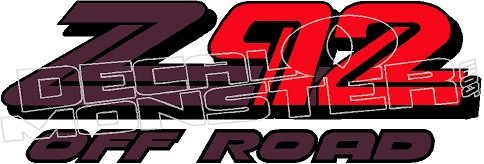 Z92 Off Road Decal Sticker Decalmonster Com