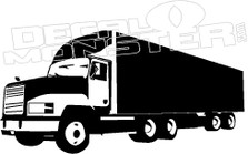 Semi Truck Silhouette Decal Sticker