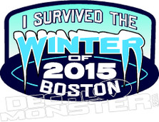 I Survived The Boston Winter of 2015 1 Decal Sticker