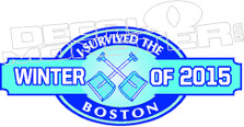 I Survived The Boston Winter of 2015 2 Decal Sticker