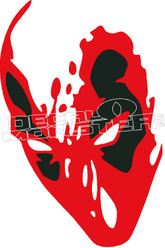 Deadpool Silhouette 1 Decal Sticker