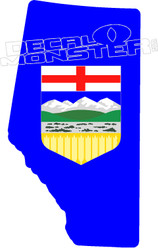 Alberta Strong Crest Decal Sticker