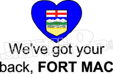 Alberta Strong We've Got you're back Fort Mac Crest Decal Sticker