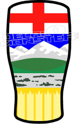 Aberta Pint Beer Crest Decal Sticker