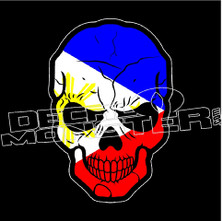 Philippines Flag Skull Decal Sticker