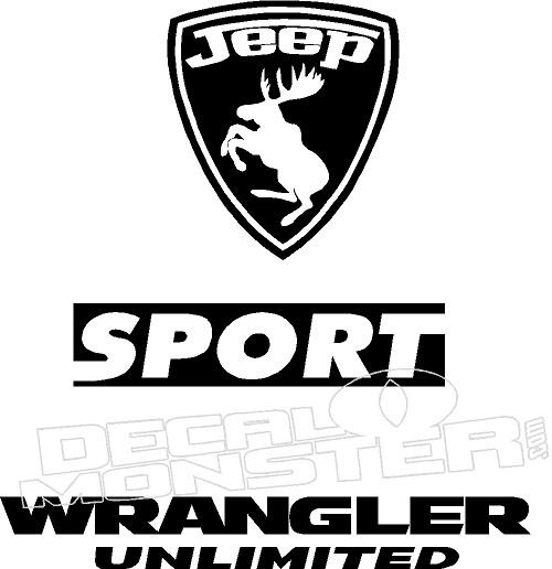Jeep Moose Ferrari Emblem Sport Wrangler Unlimited Decal
