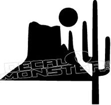 Desert Silhouette Decal Sticker