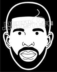 Drake Silhouette Decal Sticker