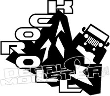 Jeep Rock n Roll Decal Sticker