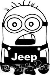 Jeep Minion Decal Sticker