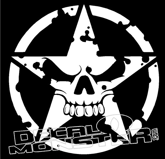 Jeep Punisher Skull decal