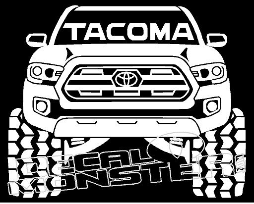 Toyota Tacoma Silhouette 1 Decal Sticker Decalmonster Com