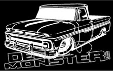 Low Chev Truck Silhouette 1 Decal Sticker