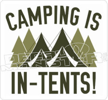 Camping is In-Tents Decal Sticker