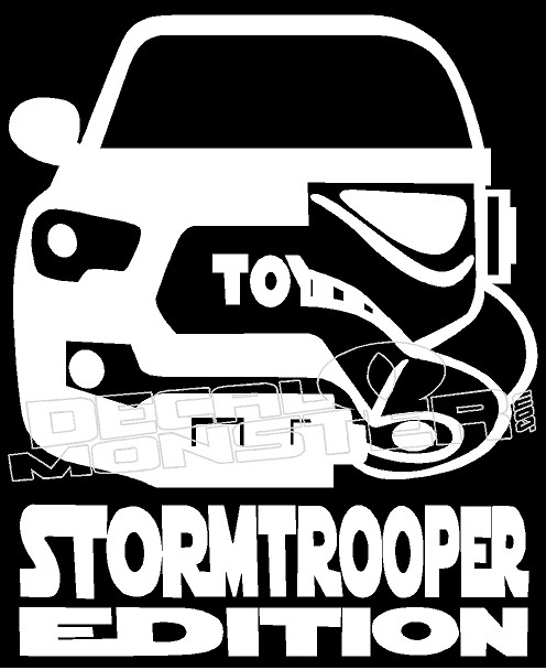 Toyota Tacoma Truck Stormtrooper Edition Decal Sticker