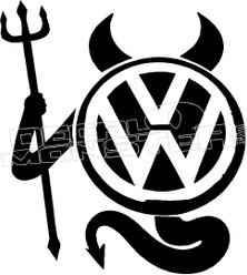 VolksWagen Devil Decal Sticker