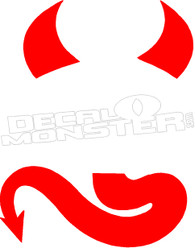 Devil Horns Insert Here Decal Sticker