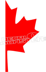 Canada Strong Canadian Leaf Decal Sticker